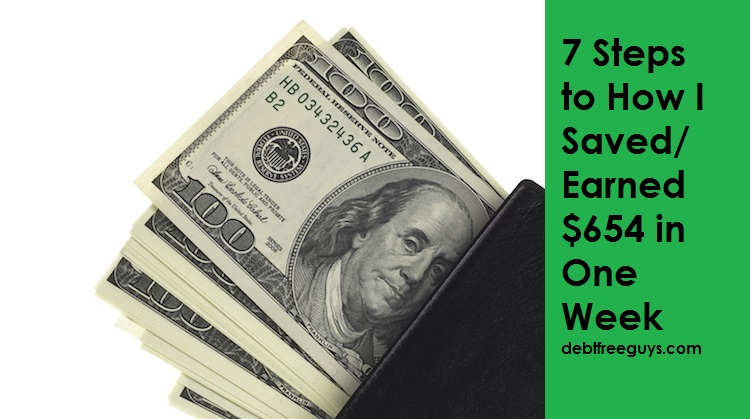 How I Saved $654 in a Week