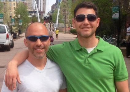 John & David in downtown Denver