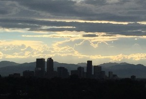Debt Free Guys View of Denver and the Mountains