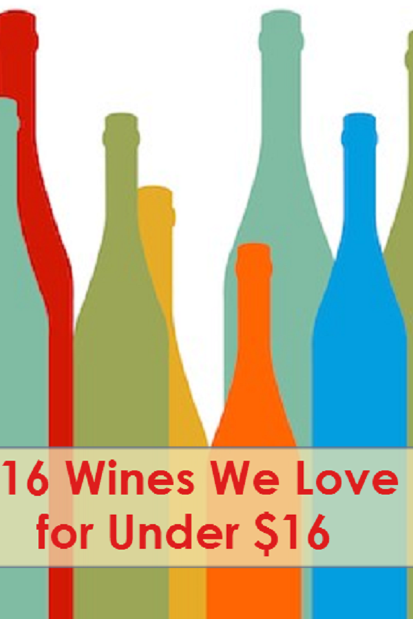 Love wine? We do too! Enjoying it doesn't need to break your budget. Here are 16 wines for at or under $16, allowing you to enjoy, imbibe and maintain your budget.