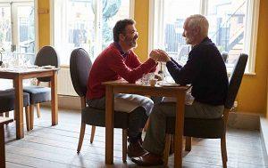 Couple at Restaurant - Debt Free Guys
