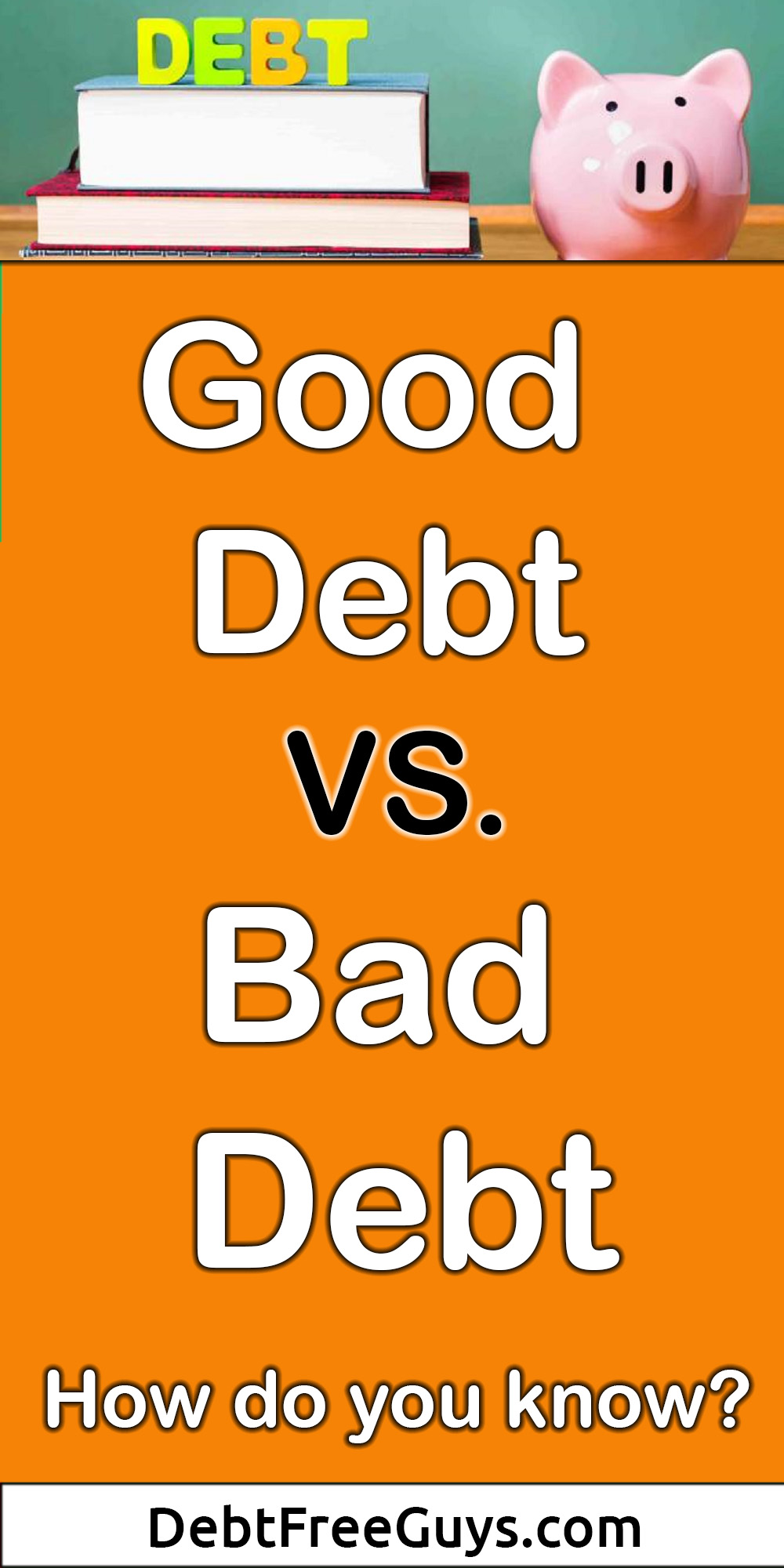 Good debt versus bad debt, how do you know the difference? How can you analyze one versus the other? Here's some great help so you can make a better decision.