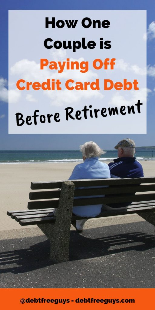 Paying off credit card debt when approaching or in retirement can be a scary proposition, especially when you want to focus on saving money for retirement. Karen & Dave's story will inspire you to get started. #PayOffCreditCardDebt #EliminateDebt #Debt #CreditCard #DebtFree #PayingOffDebt #CreditCardDebt #MoneyTips #MoneyConscious #LiveDebtFree