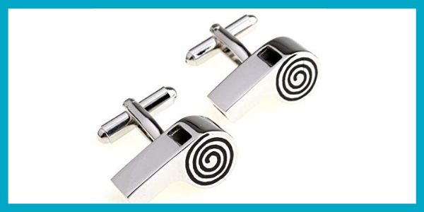SS Men's Whistle Fun Cufflinks Silver